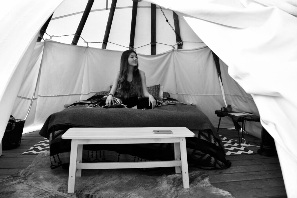 Glamping in a tipi