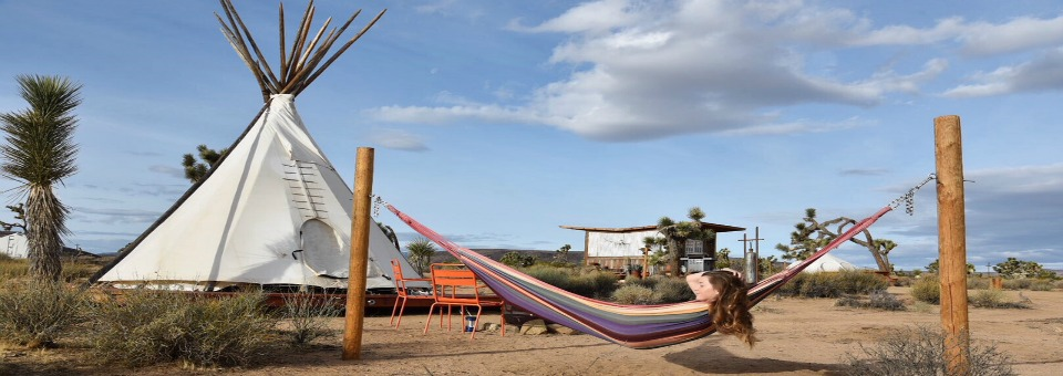 Glamping in a Tipi under the Stars in Joshua Tree