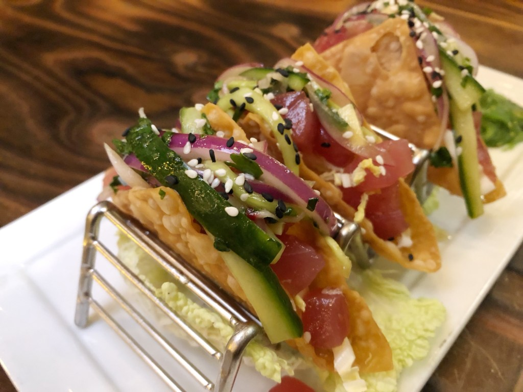 Ahi tacos at The Patio on 101