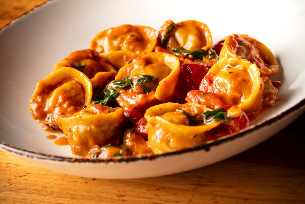 Tortellini all' Aragosta (lobster pasta) at Angelina's Pizzeria in Irvine