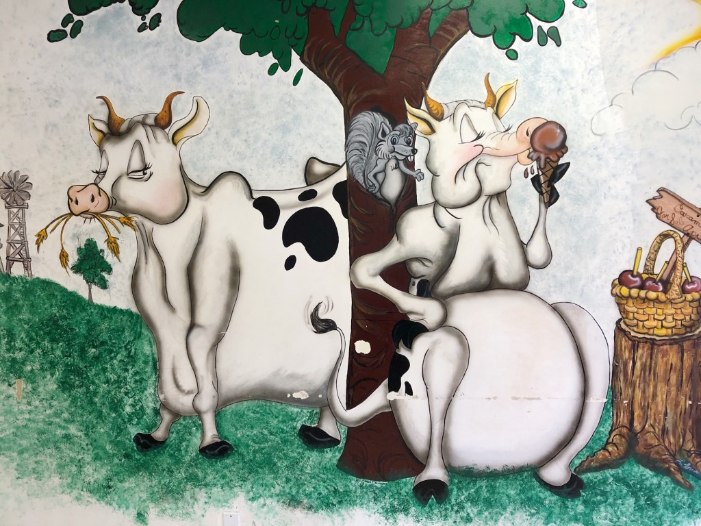 Mural inside of Village Ice Cream & Sweet Shoppe in Lake Arrowhead