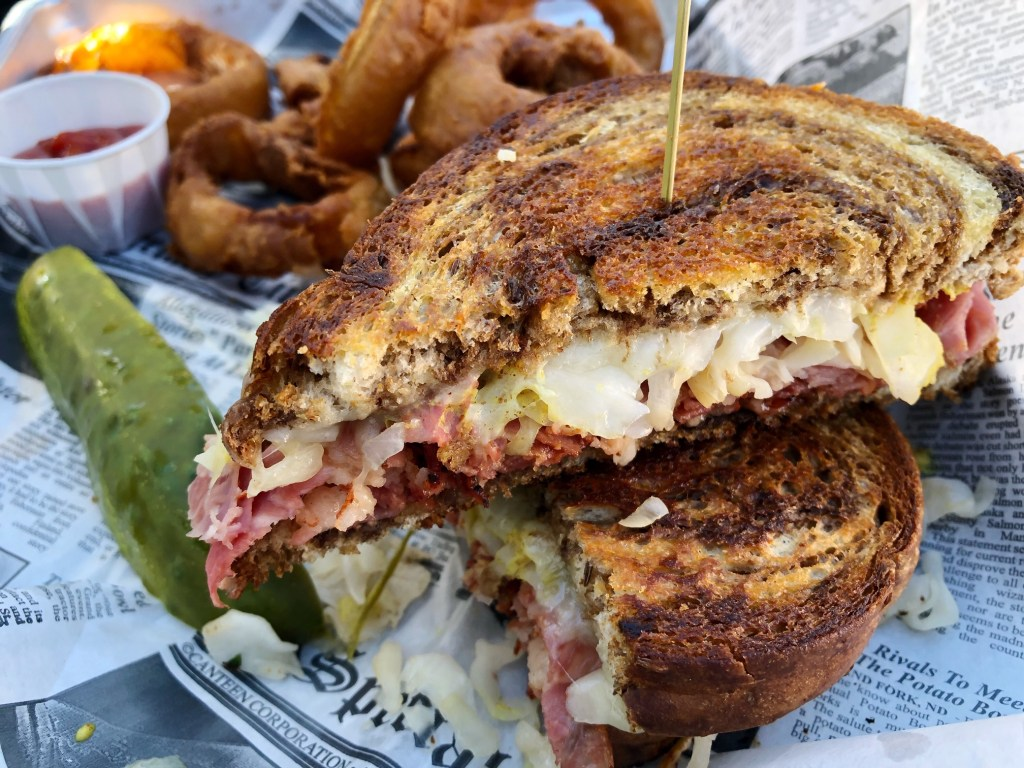 Pastrami Reuben at The Lakefront Tap Room Bar and Kitchen in Lake Arrowhead