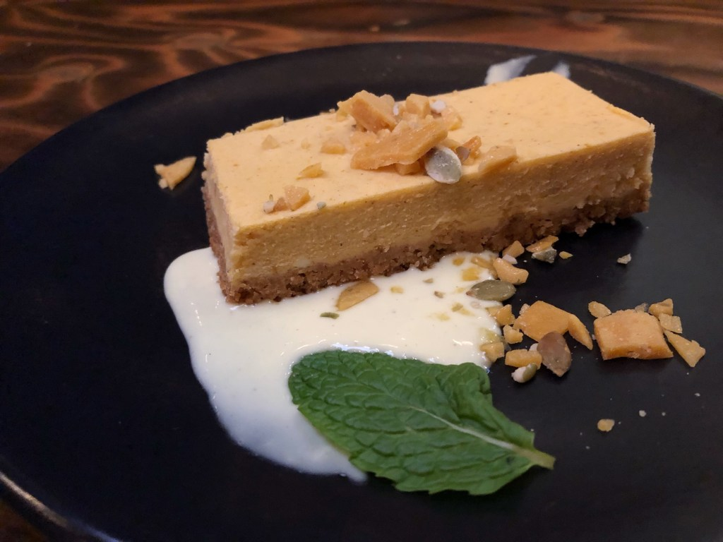 Pumpkin Cheesecake at The Patio on 101