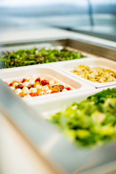 The salad bar at Silva's Fresh Eatery + Churrascaria