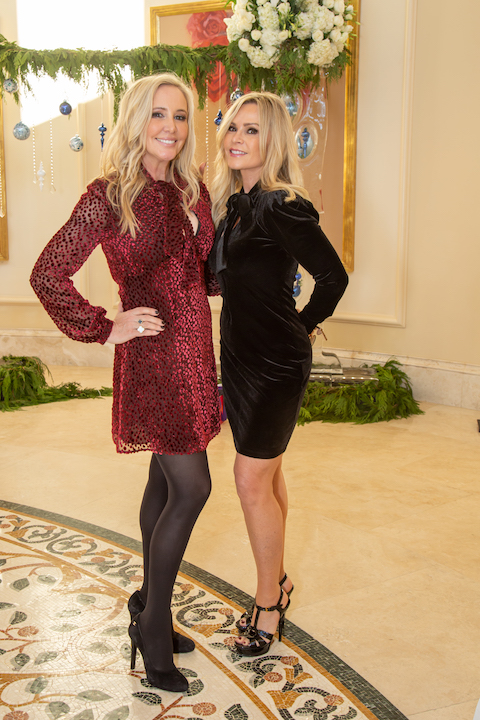 Shannon Beador and Tamra Judge at the CASA Holiday luncheon