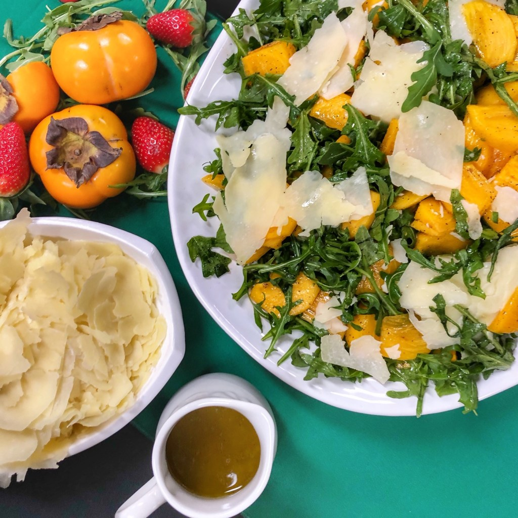 Arugula Salad with Persimmon
