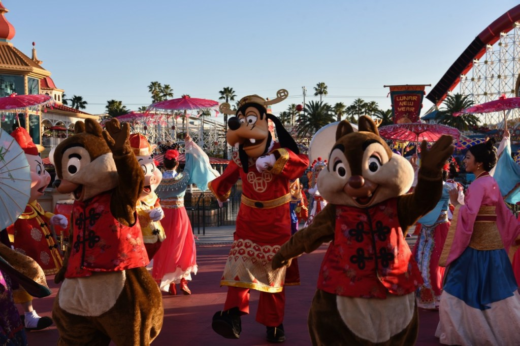 Chip and Dale in Mulan's Lunar New Year Procession
