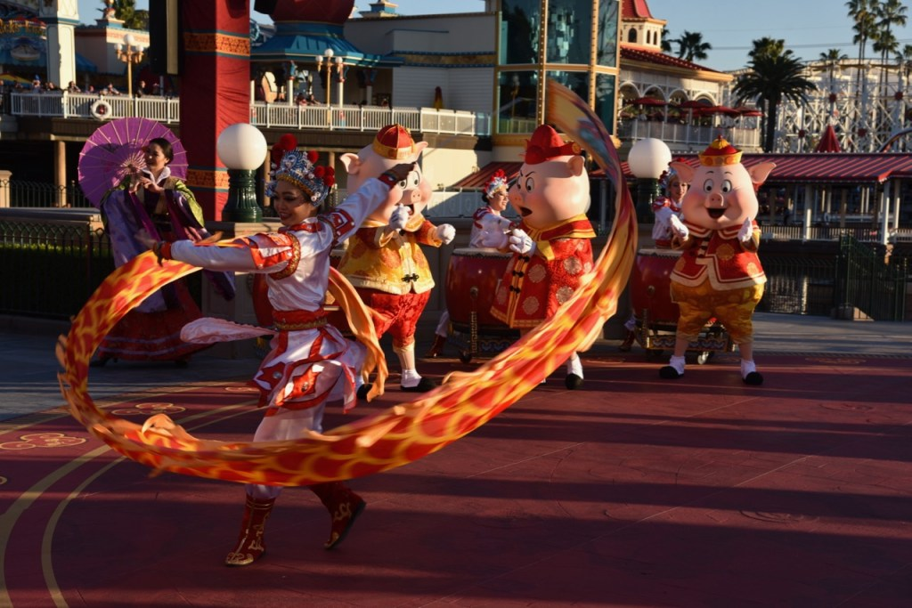 Ribbon Dancers in Mulan's Lunar New Year Procession