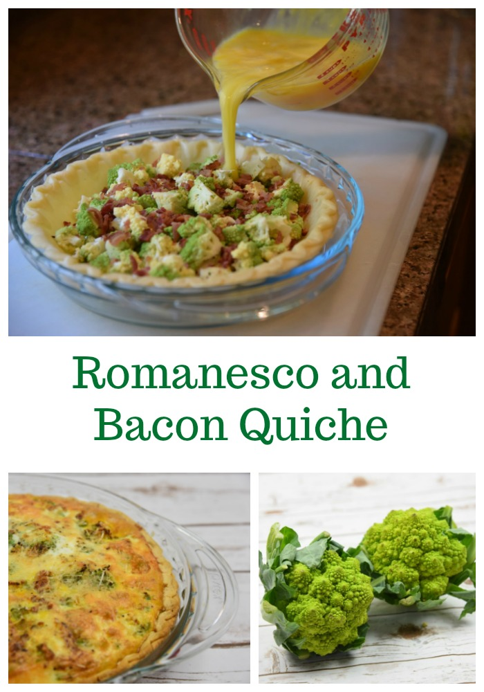 Romanesco and Bacon Quiche