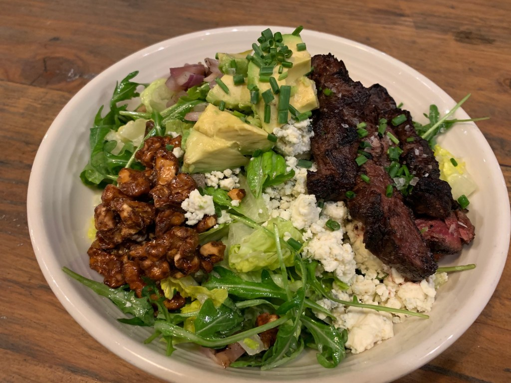 Steak Salad at Pitfire Pizza in Costa Mesa