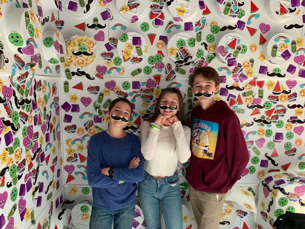Sticker room at the The LEGO Space Hollywood
