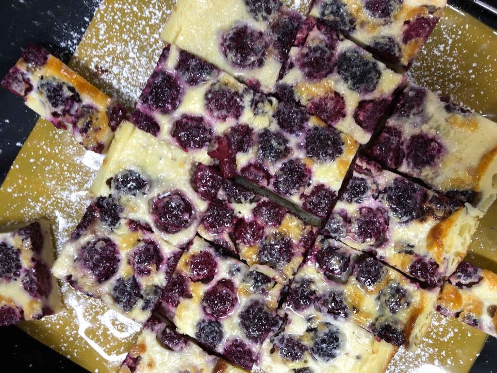 Blackberry custard bars