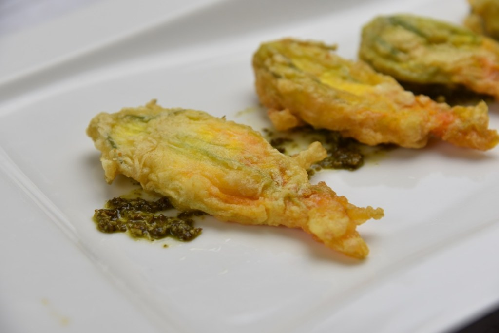 Cheese stuffed Squash Blossoms