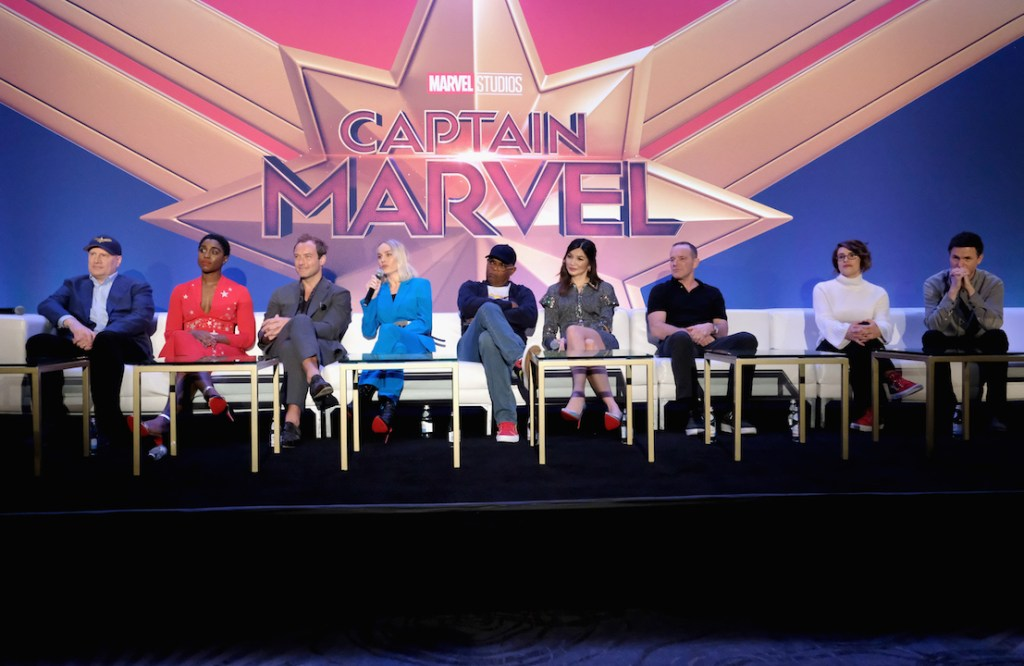 The cast in Captain Marvel