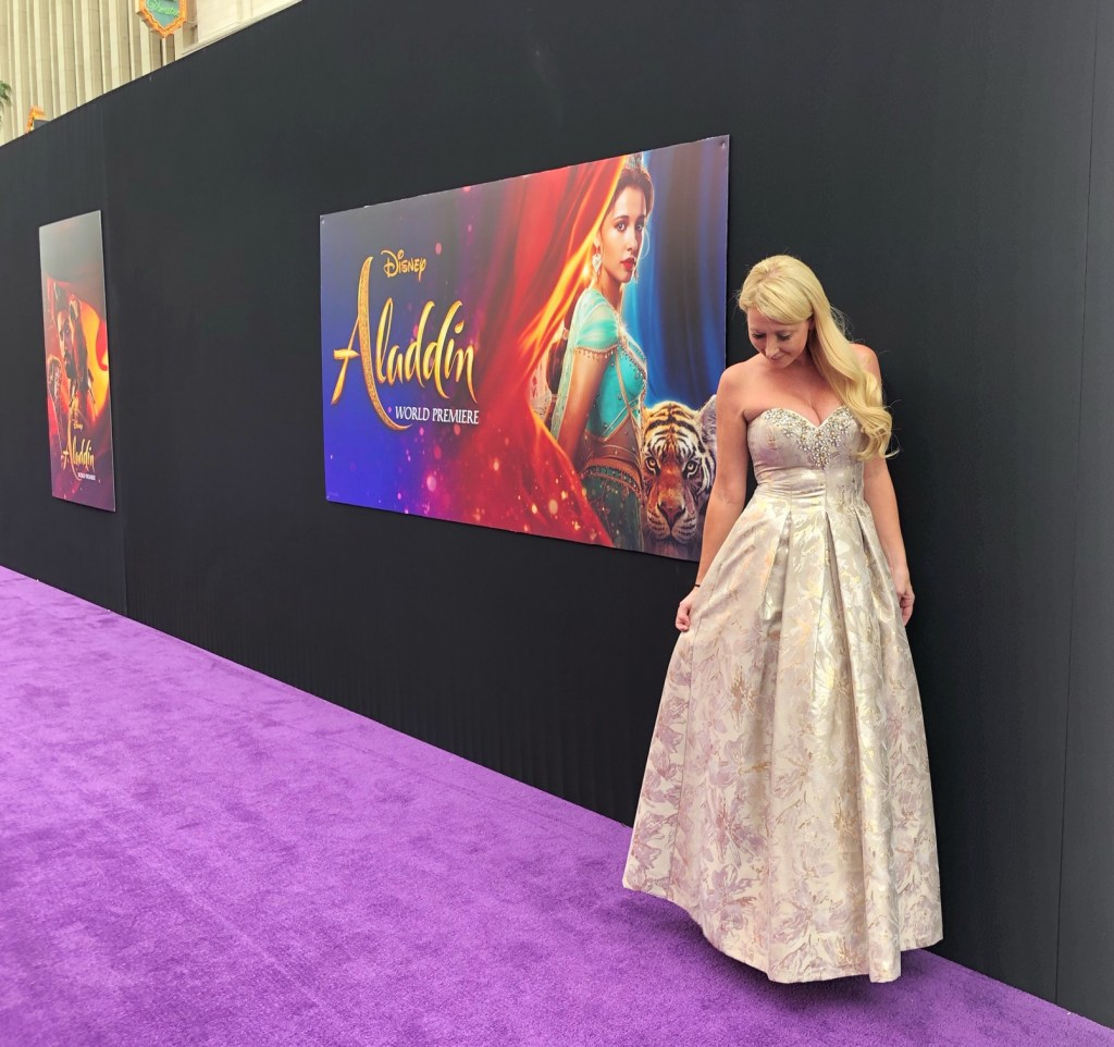 Shelby Barone at the World Premiere of Disney's Aladdin