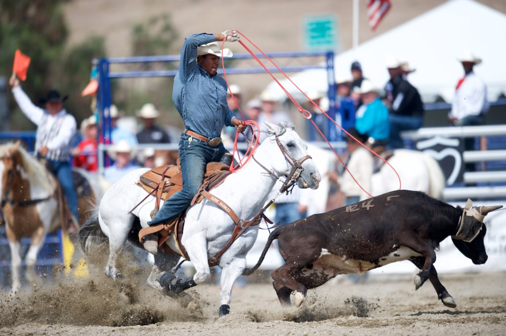 Team Roping at the Rancho Mission Viejo Rodeo