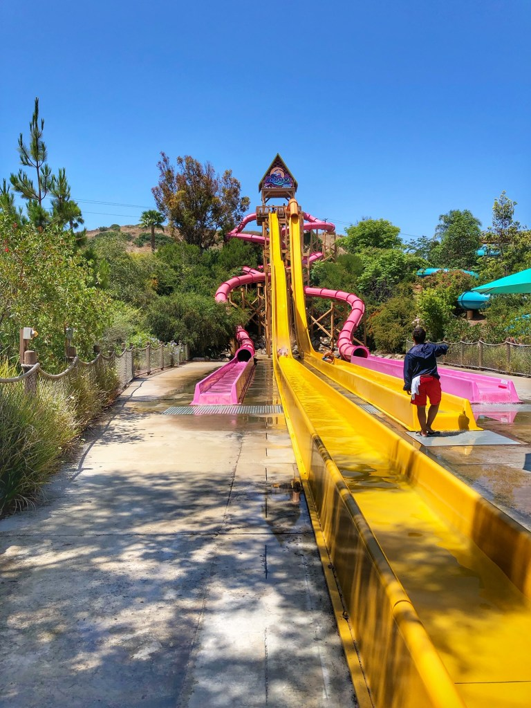 Water slides at Aquatica San Diego