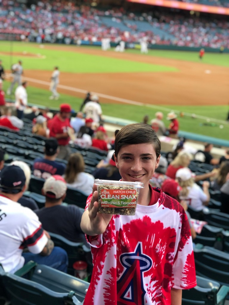 Clean Snax at Angels Baseball Game