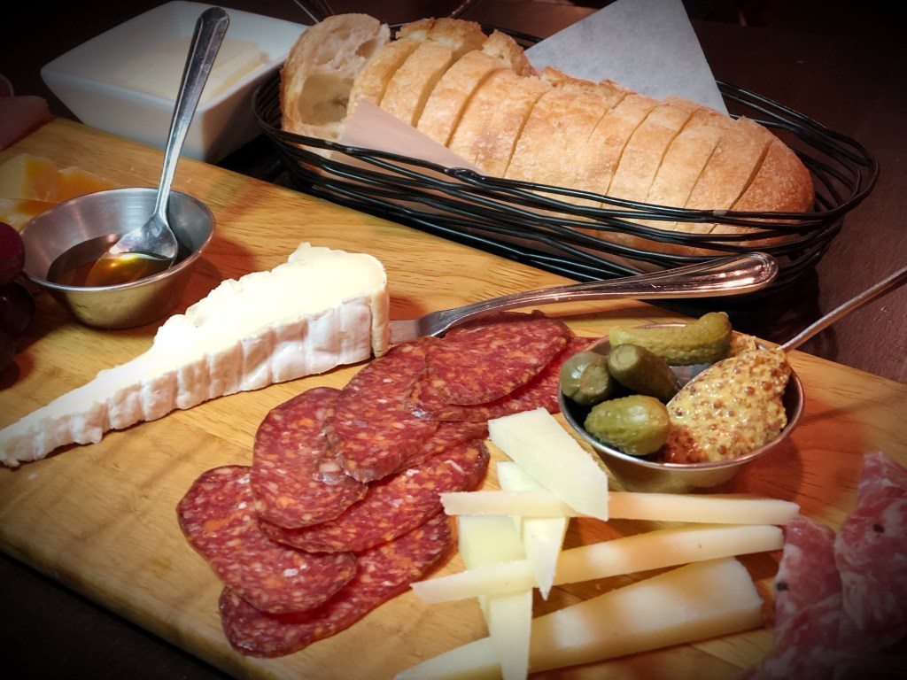 Meats and cheeses at Bacchus
