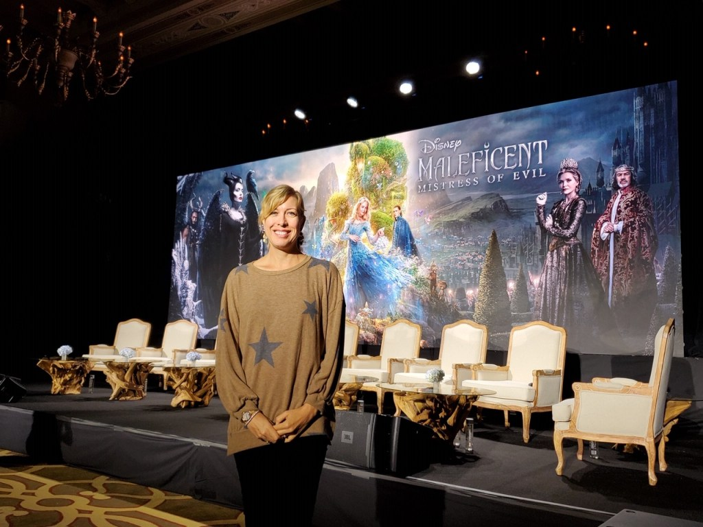 Karen Bremer at Maleficent Junket
