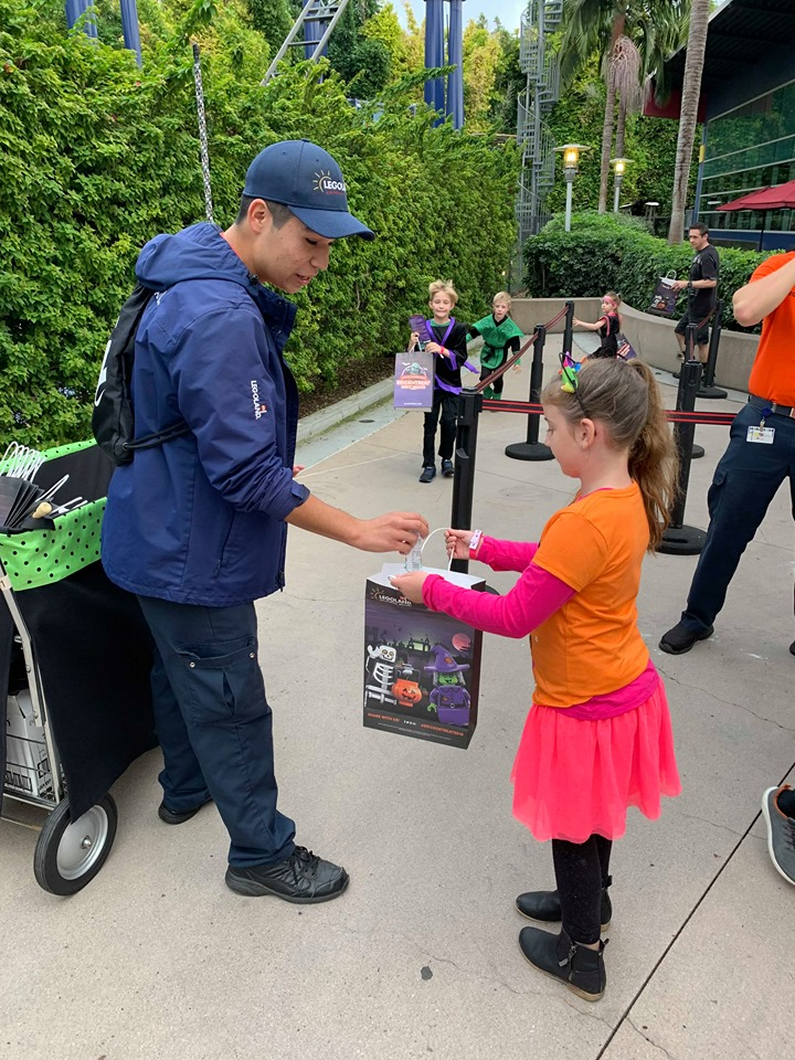 trick-or-treating at Legoland Brick-or-treat