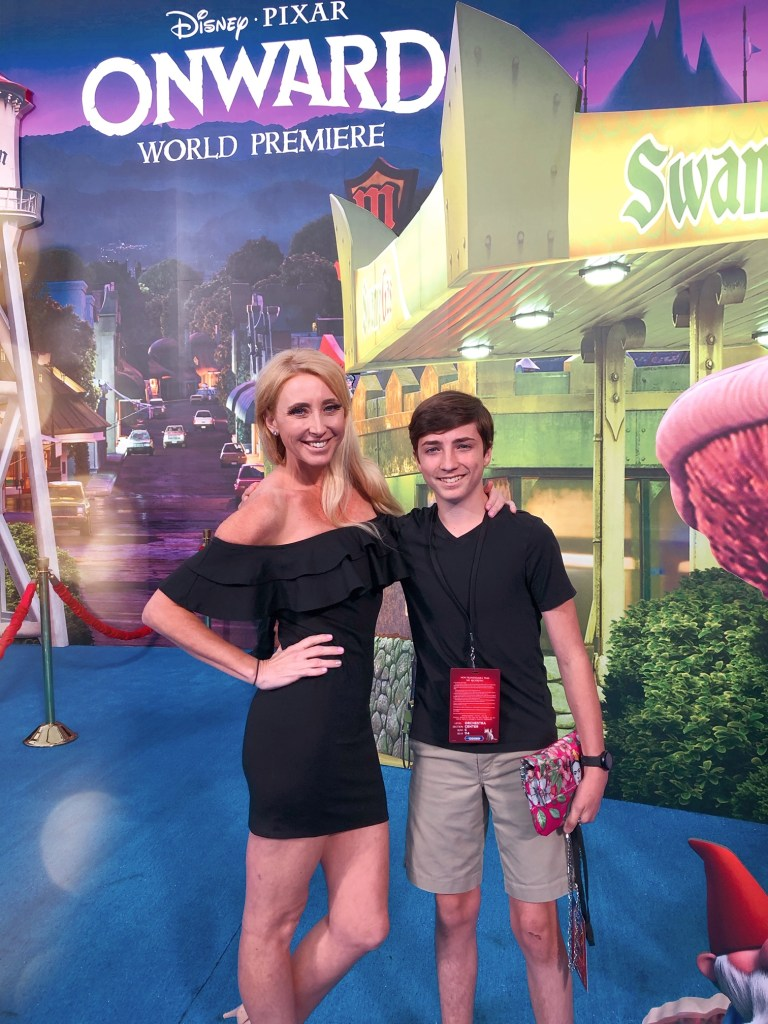 Shelby and Tyler Barone at the Pixar Onward World Premiere