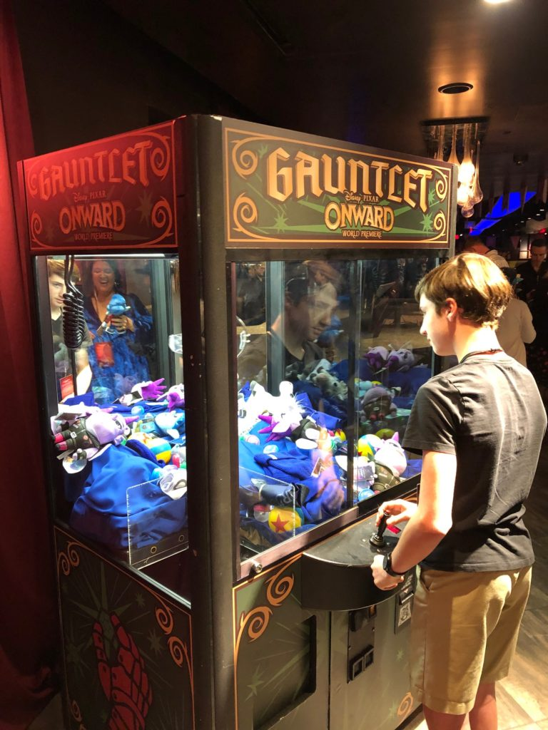 The Claw game at Onward Premiere