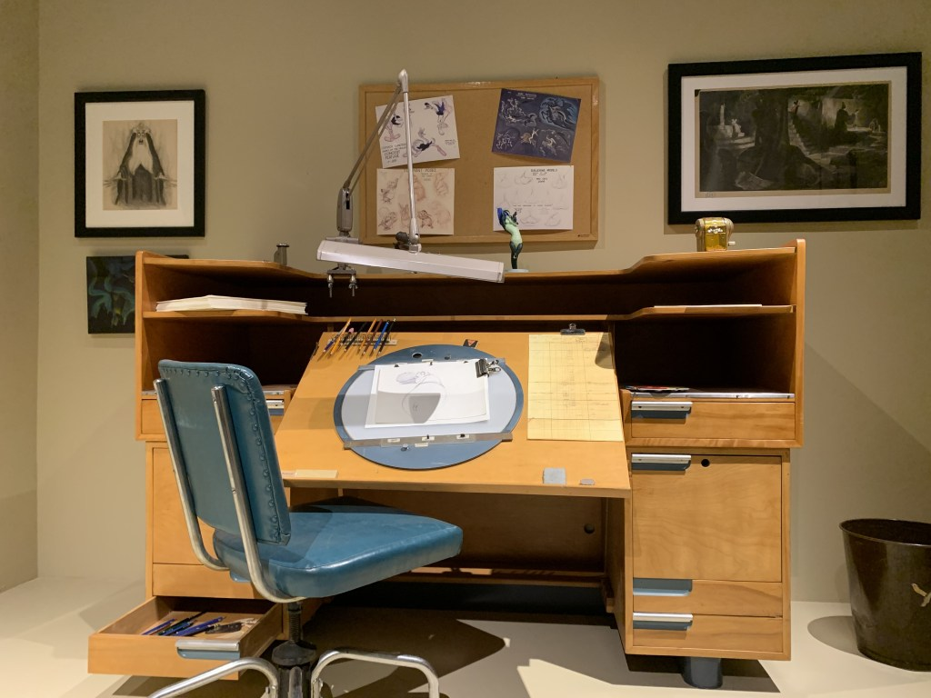 Animation desk from the Disney Archives