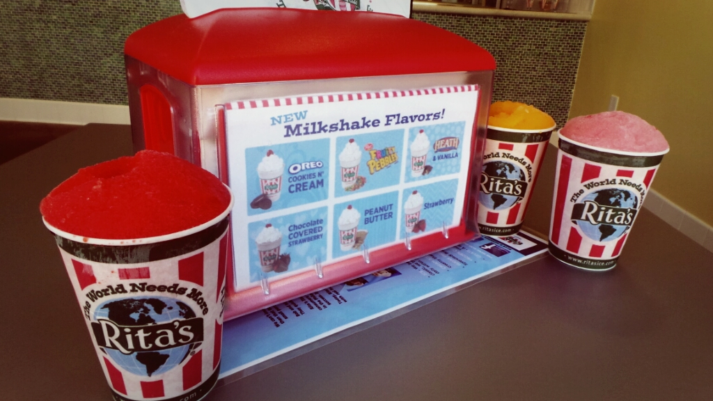 milkshakes flavors Celebrate the Grand Opening of Rita's Ice with Free Italian Ice All Day