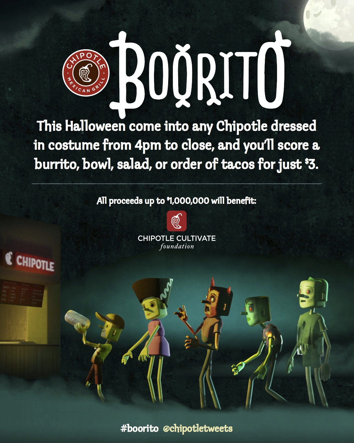 Come to Chipotle Locations in Costume on Halloween for Boorito ...