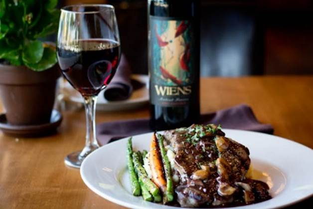 One of the new dinner items at PdM Kitchen is grilled steak with red wine mushroom sauce and mashed potatoes. Photo courtesy of PdM
