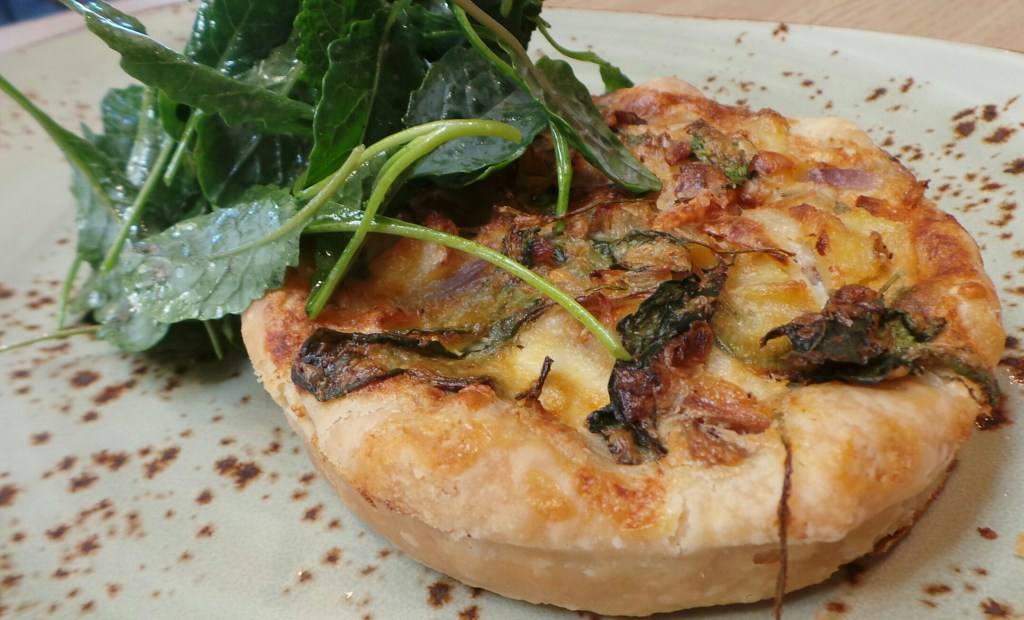 fingerling potato and kale tart