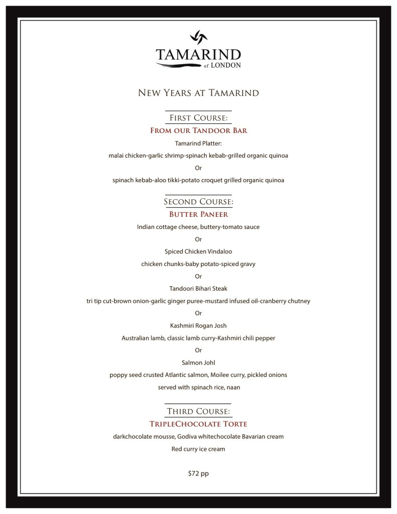 Tol New year Menu