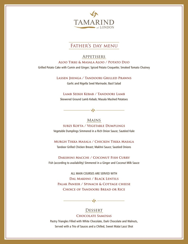 TOL father's day menu