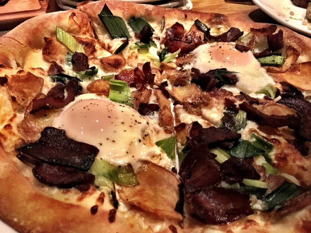 Pizza with egg at CPK