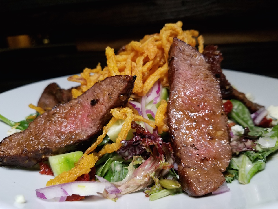 steak salad at Stacked