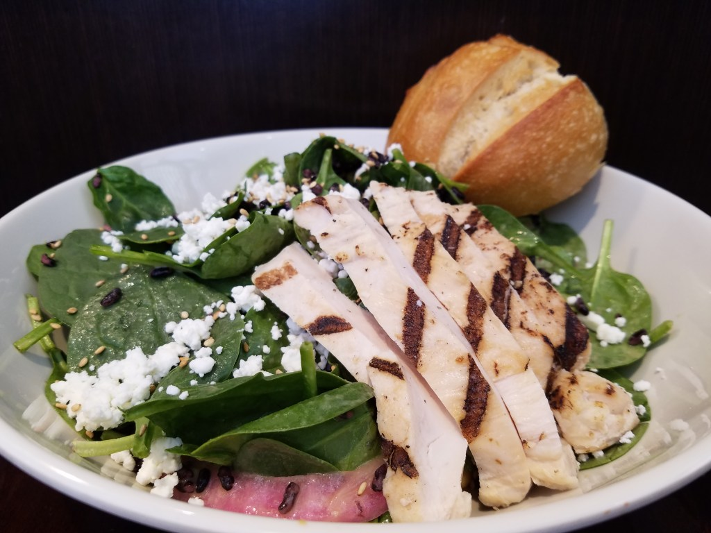 Boudin Spinach Salad