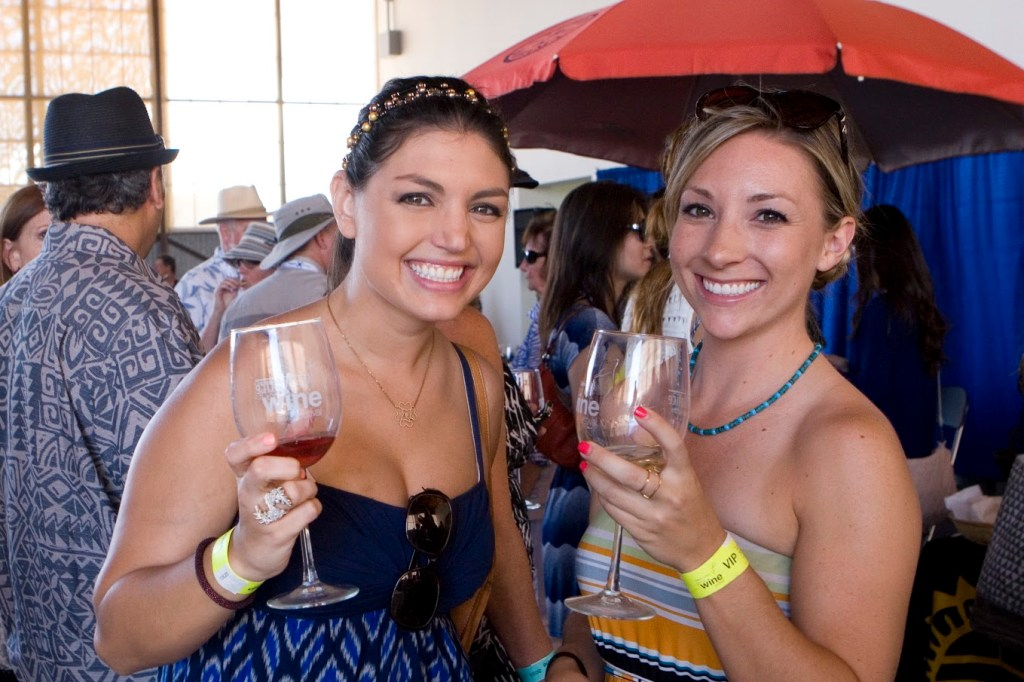 Having fun at the Great Wine Festival