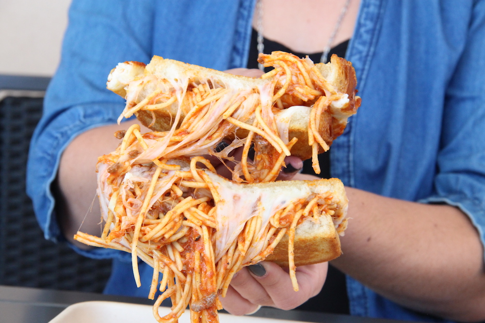 Spaghetti Grilled Cheese Sandwich From Burnt Crumbs
