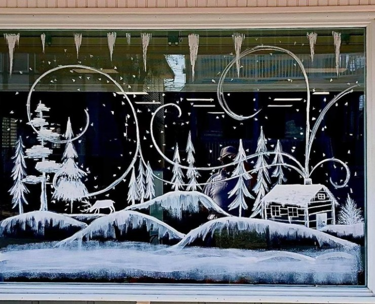 Window art at Uncle Bill's, 21st and Asbury (courtesy of Heather Henry)
