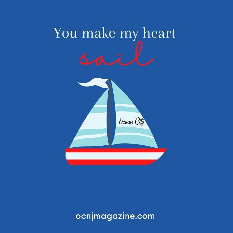 Valentine card sailboat