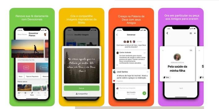 Funções App Bíblia Sagrada no Celular