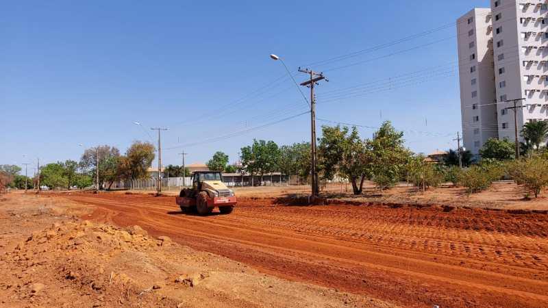 NS-05 tem trecho fechado para obra de terraplanagem e pavimentação