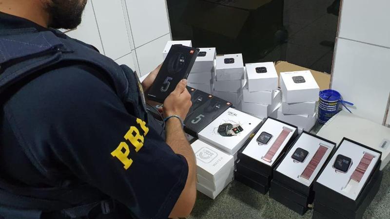 Mais de 300 produtos eletrônicos são apreendidos sendo transportados sem nota fiscal