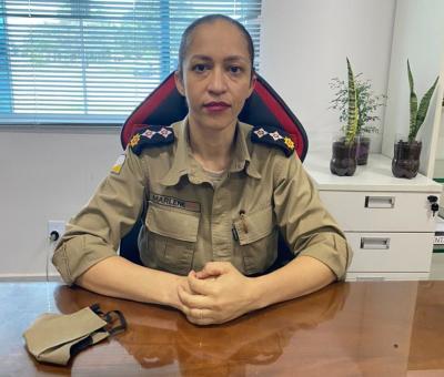 Major Marlene é a primeira mulher a comandar o 1º  Batalhão da Polícia Militar do Tocantins