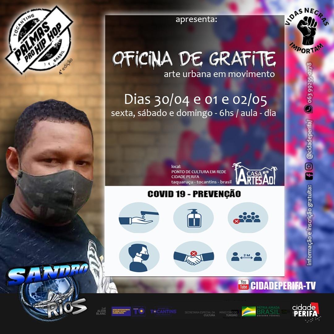 Lei Aldir Blanc: Cidade Perifa realiza Oficina de Grafite em Palmas e inscrições estão abertas