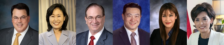 Shawn Nelson, Michelle Steel, Bob Huff, Phillip Chen, Ling-Ling Chang, Young Kim