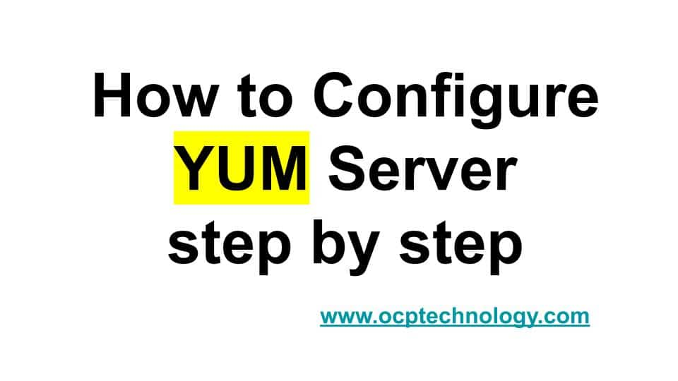 how to configure yum server
