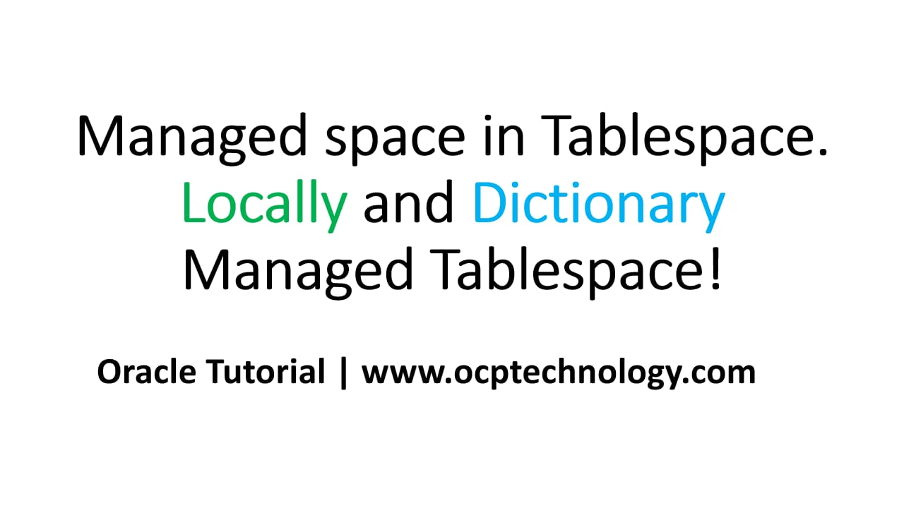 Managed space in Tablespace