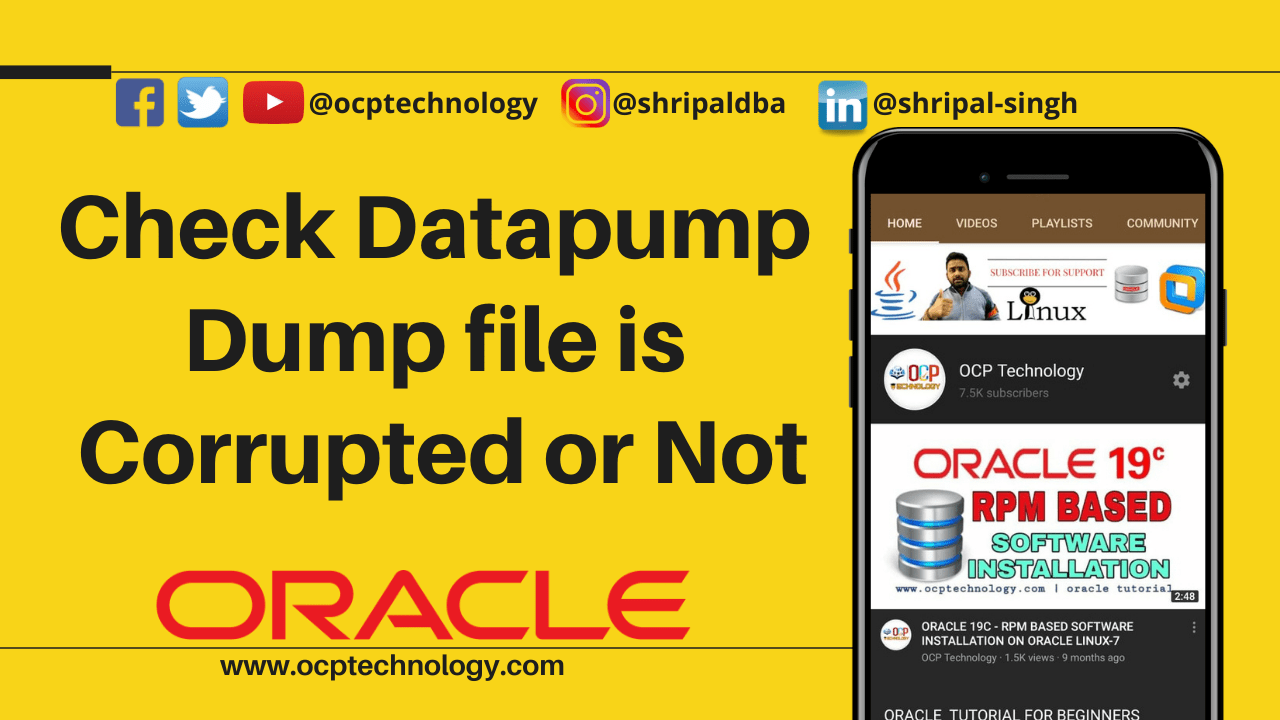 Check Datapump dump file is corrupted or not